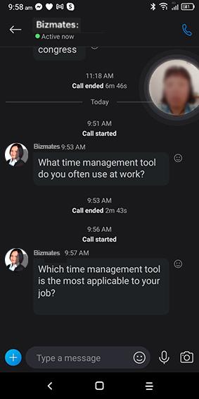 bizmates smartphone chat