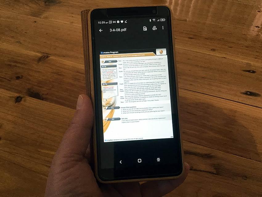 bizmates text smartphone